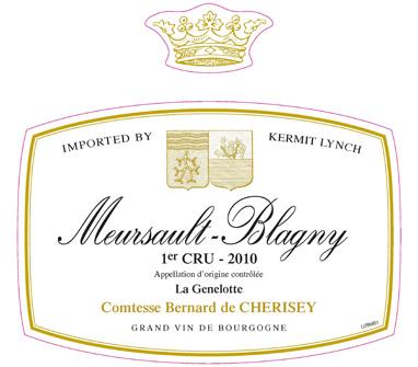 Domaine de Martelet de Cherisey Meursault 1er Cru
